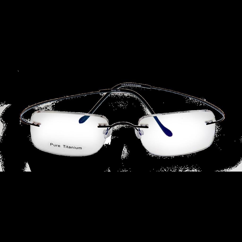 titanium eyewear 7x7p  Nantucket Multifocal Without Hinge Black